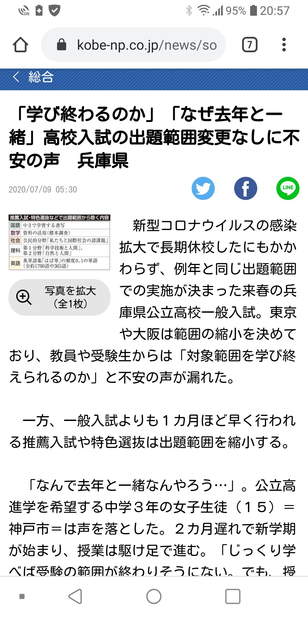 調査 希望 2020 県 公立 高校 兵庫